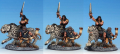 Barbarian Beastmaster and companion, vintage Copplestone Grenadier, painted for Frostgrave and Drago