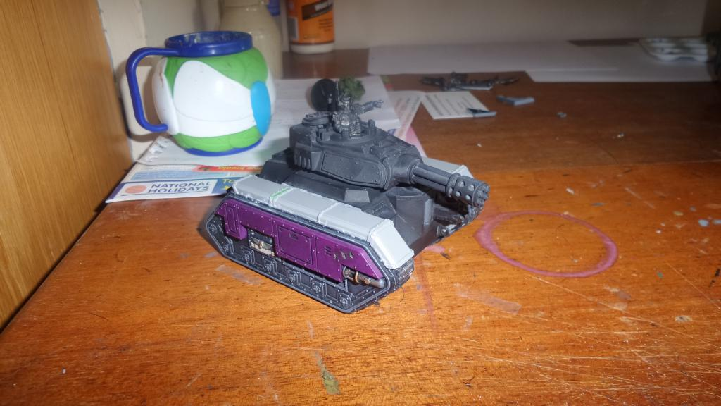 IG1+IG1 KR Tray for 2x Chimera//Leman Russ removable turrets